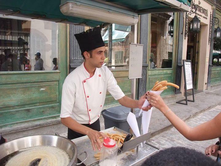 churros in havana street food cuba