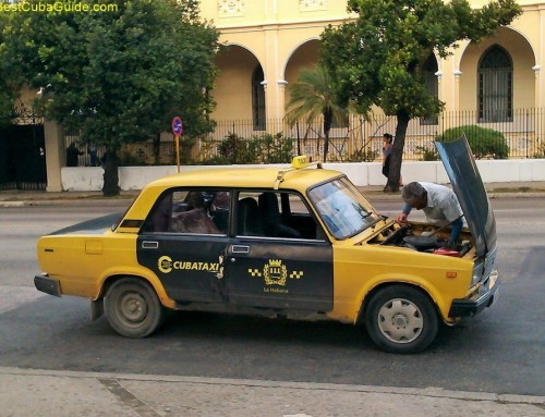 Old style Cuba state taxi