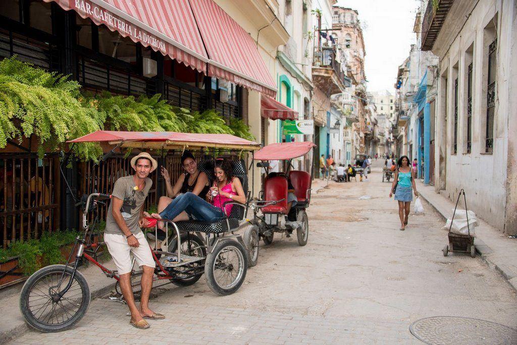 bici taxi girl in havana cuba