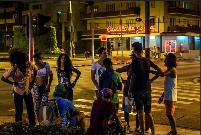 G-Street,Havana also called Avenida de los presidentes. Party with cute cuban girls
