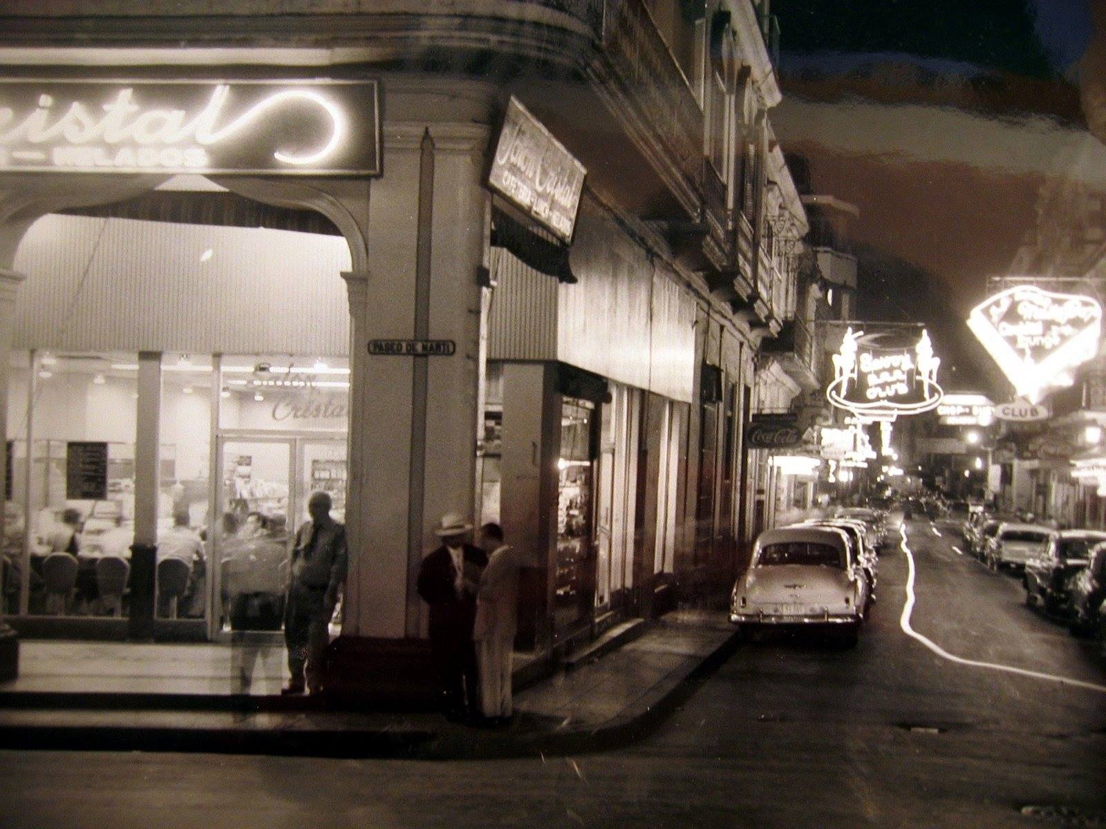 Salon Cristal on Prado street, 1957 - Salón Cristal en Prado y Virtudes, La Habana Ca. 1957.