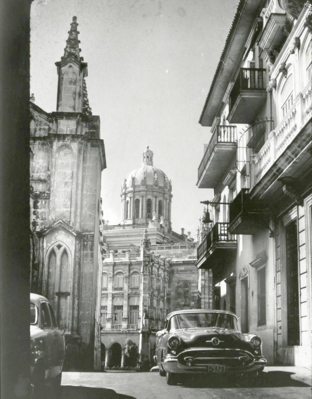 View from Presidential Palace, La Habana, January 1957