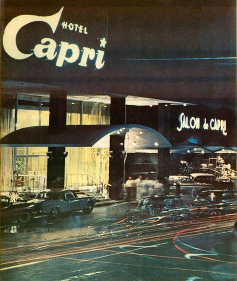 Hotel Capri, Vedado, La Habana, 1964